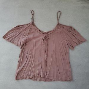 Flowy dusty pink top